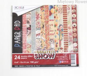 PAPIERY DO SCRAPBOOKING 15X15CM THE GREATEST SHOW
