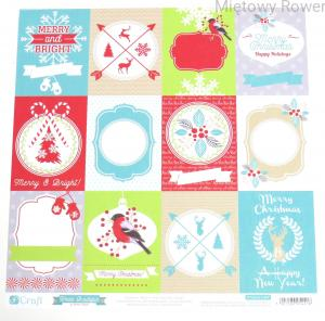 PAPIER DO SCRAPBOOKINGU 30X30CM CHRISTMAS BOUTIQUE 7