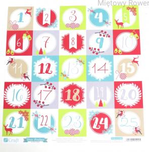 PAPIER DO SCRAPBOOKINGU 30X 30CM CHRISTMAS BOUTIQUE 8