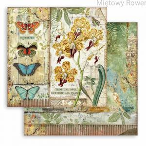 PAPIER DO SCRAPBOOKINGU 30X30CM AMAZONIA ORCHID AND BUTTERFLY