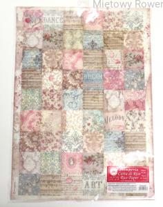 PAPIER RYŻOWY A3 PASSION PATCHWORK STAMPERIA 504-381